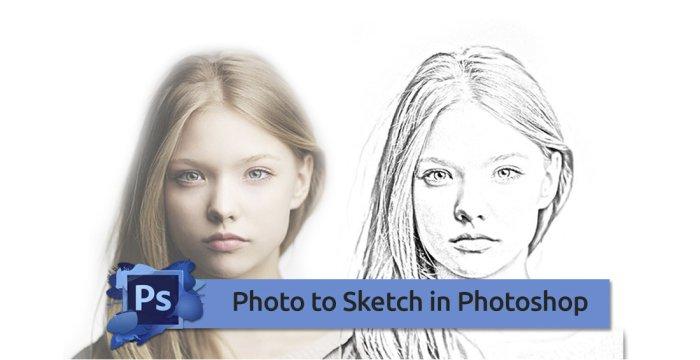 تبدیل عکس به طرح اسکچ با فتوشاپ