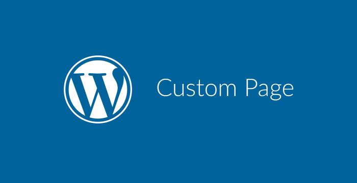 ساختن Custom Page در وردپرس