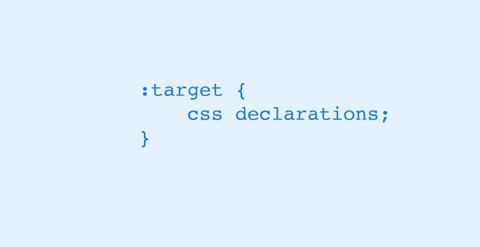 کاربردهای انتخابگر target در CSS