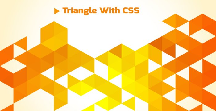 ایجاد مثلث با CSS