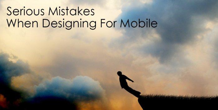 اشتباهات جدی در طراحی برای موبایل