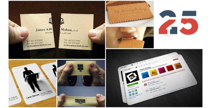 25 طرح کارت ویزیت که خلاقیت چشمگیری دارند